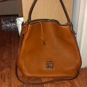 Dooney & Bourke Natural Soft Leather Hobo Bag